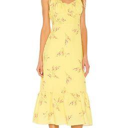 Hailey Floral Print Midi Dress | Revolve Clothing (Global)