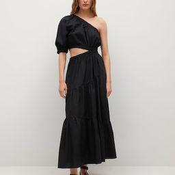 Vent cotton dress   MANGO (US)