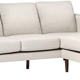 "Amazon Brand – Rivet Revolve Modern Upholstered Sofa with Reversible Sectional Chaise, 80""W, Li... | Amazon (US)"