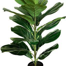 "BESAMENATURE 30"" Little Artificial Fiddle Leaf Fig Tree/Faux Ficus Lyrata for Home Office Decorat... | Amazon (US)"
