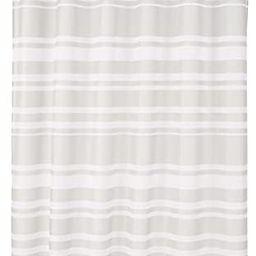 Amazon Basics Shower Curtain with Hooks - 72 x 72 Inch, Grey Stripe   Amazon (US)