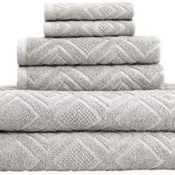 Classic Turkish Towels Luxury 6 Piece Cotton Bath Towel Set - Jacquard Woven Soft Textured Towels...   Amazon (US)
