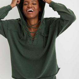 Aerie Lace Up Hoodie | American Eagle Outfitters (US & CA)