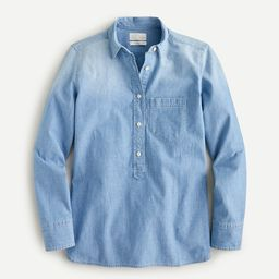 Classic-fit chambray popover   J.Crew US