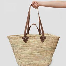 FRENCH BASKET    XL Market Basket    Handmade Moroccan Basket    Moroccan Straw Bag    Double Han...   Etsy (US)