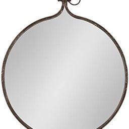 Kate and Laurel Yitro Round Industrial Rustic Metal Framed Wall Mirror, 23.5x28.5, Rustic Metal, ...   Amazon (US)