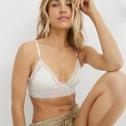 Aerie Be Free Lace Padded Triangle Bralette | American Eagle Outfitters (US & CA)
