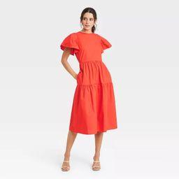 Women's Flutter Short Sleeve A-Line Dress - Who What Wear™ | Target