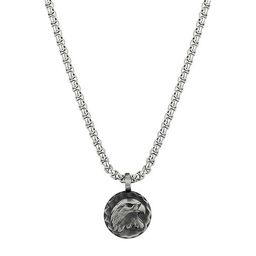 Footnotes J.P. Army Men's Jewelry Stainless Steel 24 Inch Cable Round Pendant Necklace | JCPenney