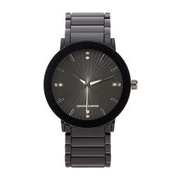 Red Bow Deal 1/10 C.T. T.W. Mens Diamond Accent Black Bracelet Watch - 03502b-18-G02 | JCPenney