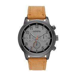 Geneva Mens Brown Strap Watch-Fmdjm582 | JCPenney