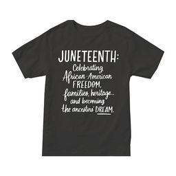 Juniors Juneteenth Womens Crew Neck Short Sleeve Graphic T-Shirt   JCPenney
