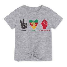 Juneteenth Little & Big Girls Crew Neck Short Sleeve Graphic T-Shirt   JCPenney
