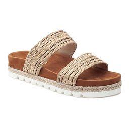 J/Slides Women's Sandals TAN - Tan Raffia Logan Sandal - Women   Zulily