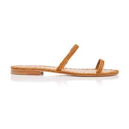 Carrie Forbes Salam Raffia Slide Sandals   Moda Operandi Global