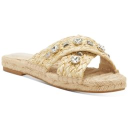 Vince Camuto Women's Jermindi Embellished Raffia Slide Sandals Women's Shoes   Macys (US)