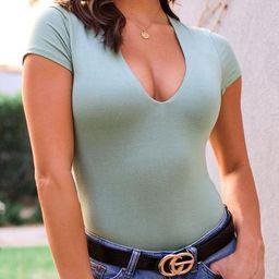 Josie Sage V-Neck Bodysuit | Shop Priceless