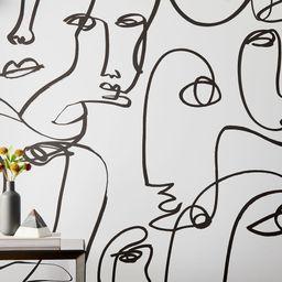 Drop It MODERN Femme© Removable Wallpaper - Black & White | West Elm (US)
