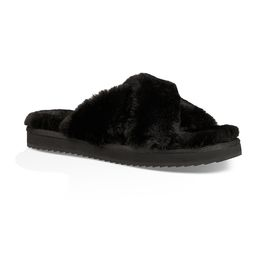 Koolaburra by UGG Women's Slippers Black - Black Ballia Slipper - Women | Zulily