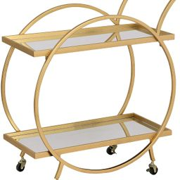 FirsTime & Co. Gold Odessa Bar Cart, American Crafted, Gold, 28 x 14 x 32 ,   Amazon (US)