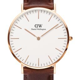 Daniel Wellington Classic St. Mawes Leather Strap Watch, 40mm   Nordstrom   Nordstrom