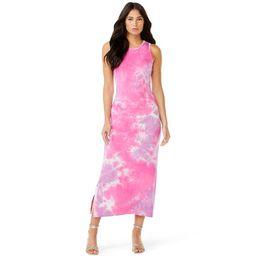 Sofia Jeans by Sofia Vergara Women's Tie Dye Button Side Maxi Dress   Walmart (US)