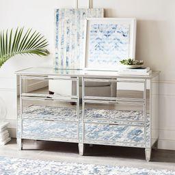 Park 6-Drawer Wide Mirrored Dresser | Pottery Barn (US)
