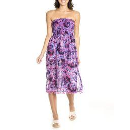Cyn & Luca Juniors' Festival Tie Dye Smocked Convertible Dress Skirt Cover Up   Walmart (US)