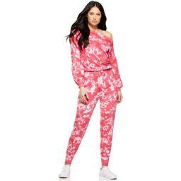 Sofia Jeans by Sofia Vergara Women's Tie Dye Long Sleeve One Shoulder Knit Jumpsuit   Walmart (US)
