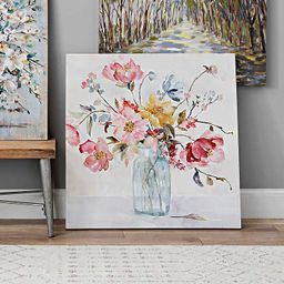 Watercolor Floral Vase Canvas Art Print | Kirkland's Home