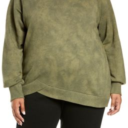 Plus Size Women's Zella Coastal Wave Angled Hem Sweatshirt   Nordstrom