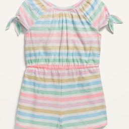 Printed Tie-Sleeve Romper for Toddler Girls   Old Navy (US)
