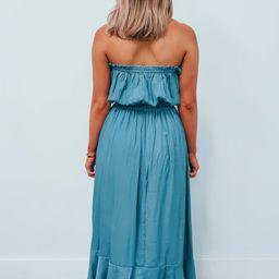 Look Away Maxi: Dusty Blue   Shophopes