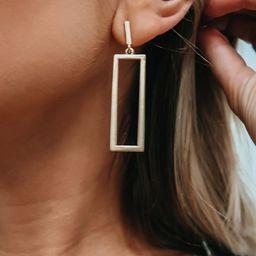 Clean Line Earrings: Gold   Shophopes