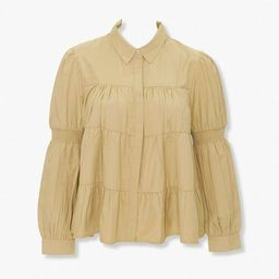 Plus Size Tiered Shirred Shirt | Forever 21 (US)