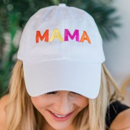 Mama Multi Color Embroidered Baseball Cap | The Pink Lily Boutique