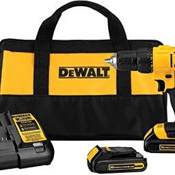 DEWALT 20V Max Cordless Drill / Driver Kit, Compact, 1/2-Inch (DCD771C2) | Amazon (US)