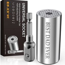 Gifts for Dad Fathers Day from Daughter Son, Universal Socket 'BEST DAD EVER', Cool Gadgets Stock... | Amazon (US)