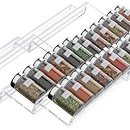 FEMELI Spice Drawer Organizer Insert for Kitchen,Adjustable Expandable Spice Rack Tray 4 Tiers fo...   Amazon (US)