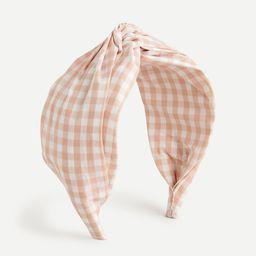 Twist headband in printed cotton   J.Crew US