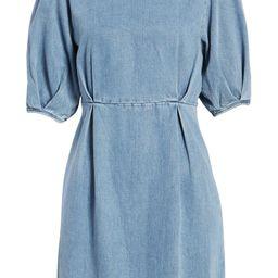 AWARE by VERO MODA Berta Puff Sleeve Chambray Dress   Nordstrom   Nordstrom