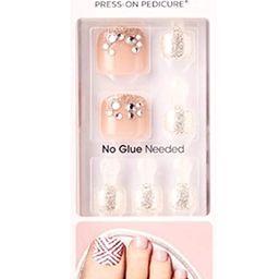 Kiss imPress Press-On Pedicure Nails BIPT026X Ballerina (For Toes)   Amazon (US)