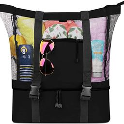 FITFORT Mesh Beach Tote Bag with Detachable Beach Cooler - MAX Capacity 34L 150lbs Ultra Durable ...   Amazon (US)