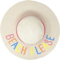 "C.C Fun Verbiage Elegant Wide Brim 4"" Summer Derby Beach Pool Floppy Dress Sun Hat   Amazon (US)"