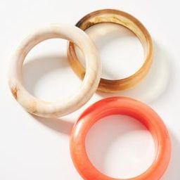 Resin Bangle Bracelet Set | Anthropologie (US)