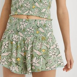 Aerie Real Good Smocked High Waisted Short | American Eagle Outfitters (US & CA)