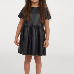 Faux Leather Dress   H&M (US)