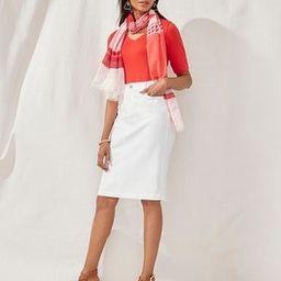 No-Stain White 5-Pocket Denim Twill Skirt | Chico's