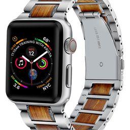 Stainless Steel & Wood Apple Watch® Bracelet | Nordstrom