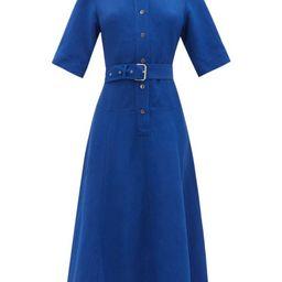 Co - Belted Canvas Shirt Dress - Womens - Blue | Matchesfashion (Global)